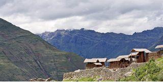 Mountain village houses