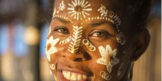 Madagascar tribe lady