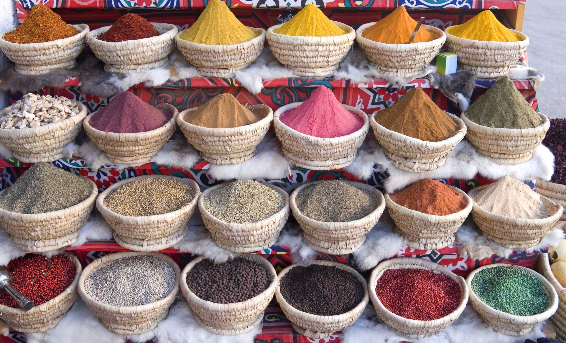 egypt egyptian spice sheikh sharm el market food drink shopping baskets spices bazaar foods holiday oriental khalili khan orient info