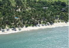 Aerial View of Tides Lodge, luxury hotel in Tanzania, Africa