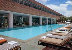 The pool at SLS South Beach, luxury hotel in Miami