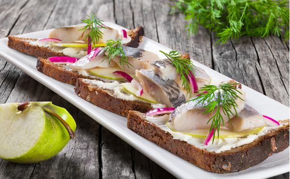 Dine on a fish platter for starters