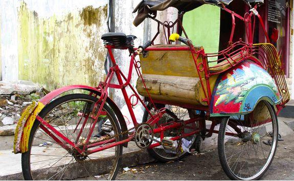Rickshaw, Indonesia