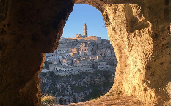 A cave window in Matera