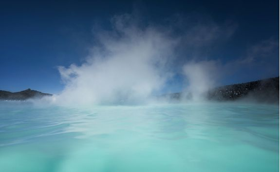 Steam coming from the Blue Lagoon, Iceland