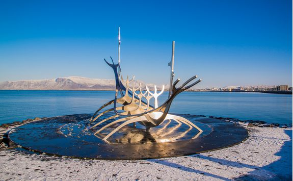 Viking statue in Reykjavik