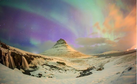 The Northern Lights in the Snaefellsnes Peninsula