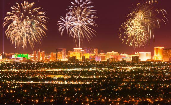 Fireworks over Las Vegas