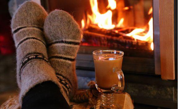 Warm up beside a fire