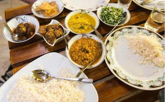 Curry dishes, Sri Lanka