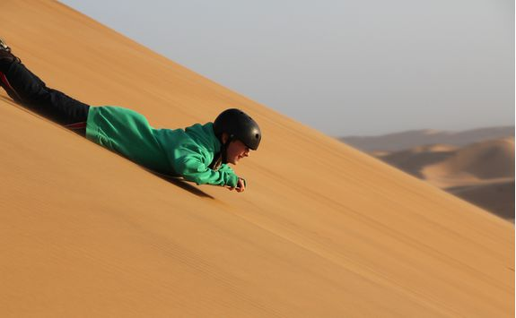 sand boarding namibia