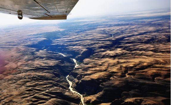 Flight over Kuiseb