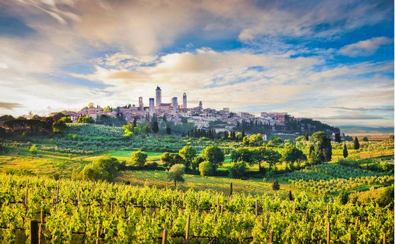 The town of San Gimignano