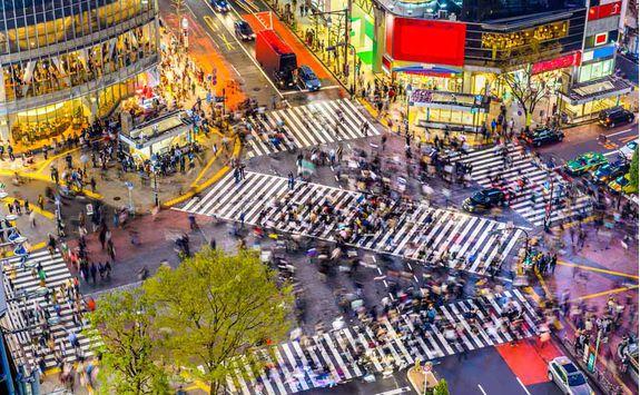 Shibuya Crossing in Tokyo, Japan