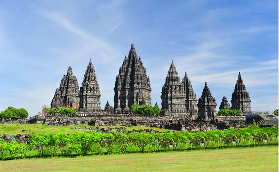 Prambanan Temple from a distance, Java