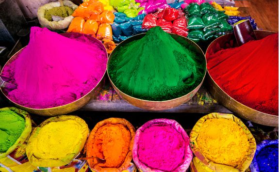 jaipur market coloured dye