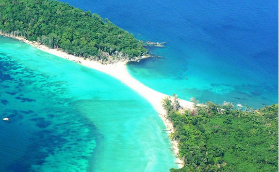 An aerial view of the Andaman Islands