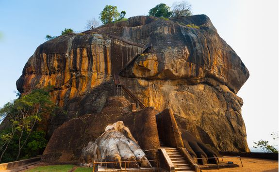 A close up view of Sigiriya