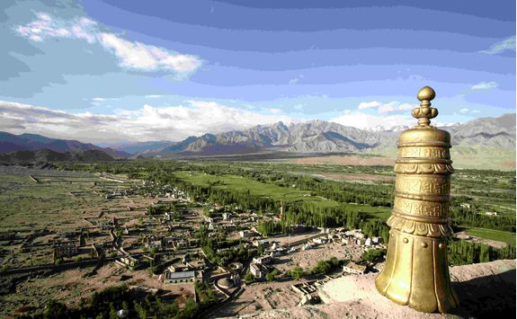 Thiksey Monastery views