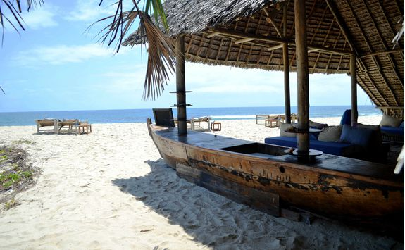 Beach bar in Tanzania