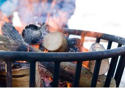 Build a campfire to generate some heat