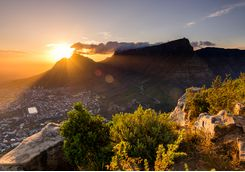 View of Cape Town at Sunset