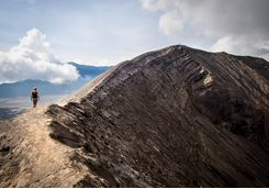 Mount Bromo crater rim