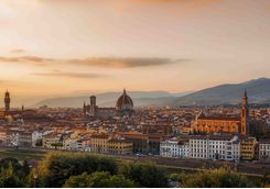 Italy Florence Sunset