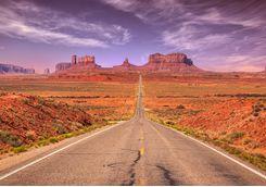 Long road stretching ahead