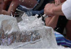 Create an ice sculpture