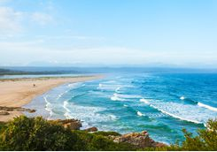 The surf at Plettenberg Bay beach