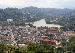 Kandy, aerial view