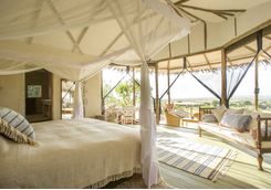 a bedroom and its view at Mkombe