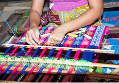 Lombok weaving lady