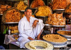 seller at udaipur market