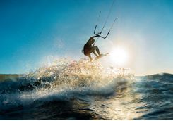 Wakeboarding in Komodo