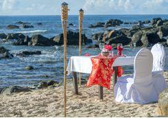 Mauritius beach dinner