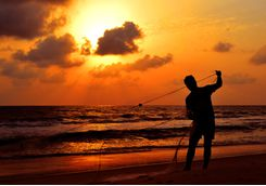 fisherman on beach neeleshwar