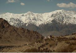 Snow mountains, India