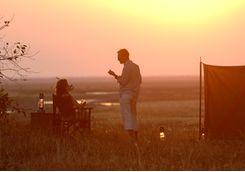 a couple at Chada Katavi Camp