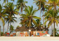 Colourful decoration on the Tanzania coast