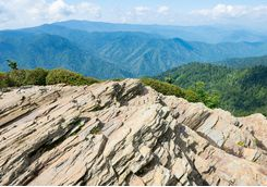 mount leconte viewpoint in smoky mountains