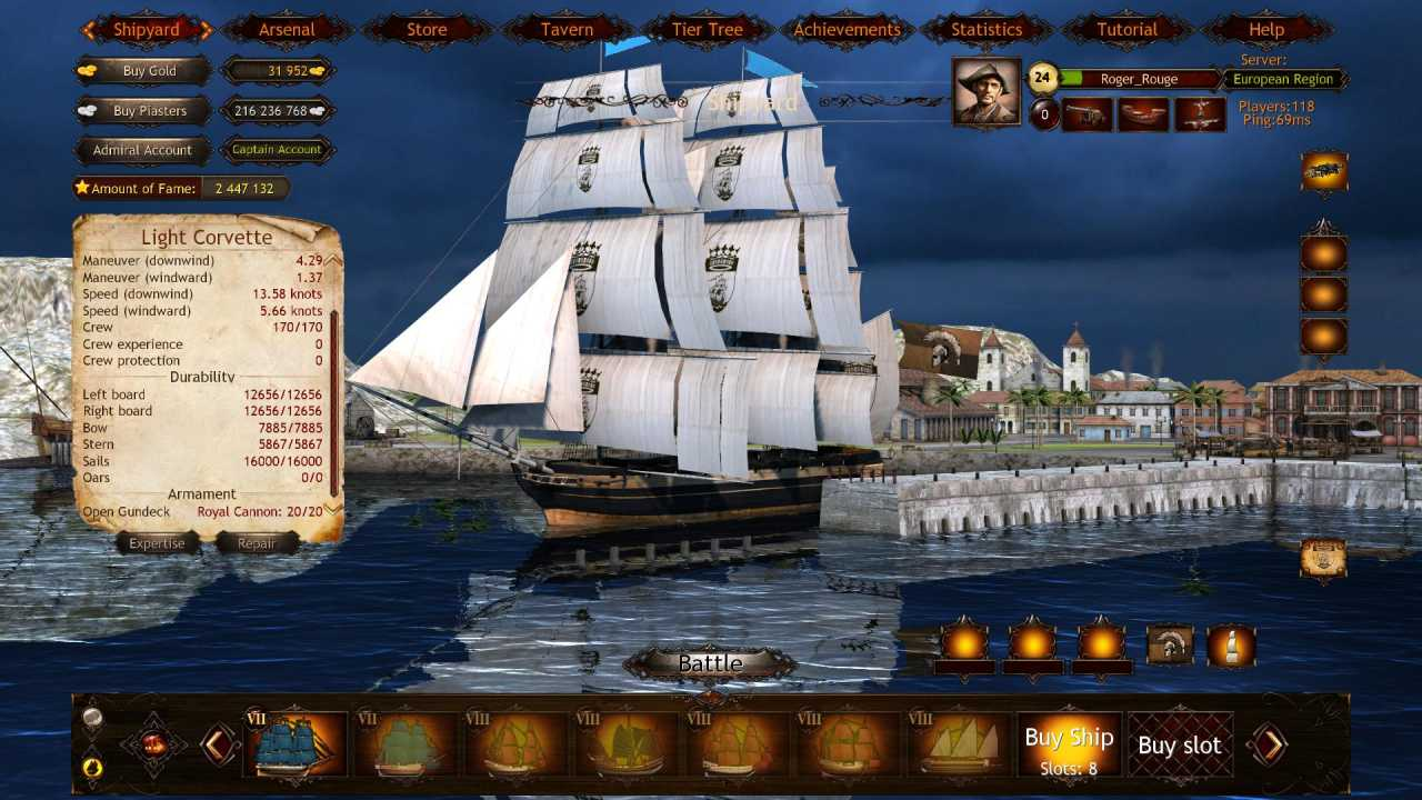 Screenshot Wind of Luck: Arena - Mediterranean Admiral pack