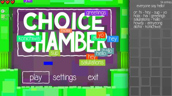 Screenshot Choice Chamber
