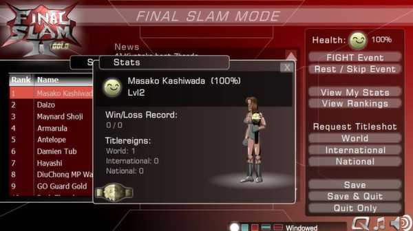 Screenshot Final Slam 2