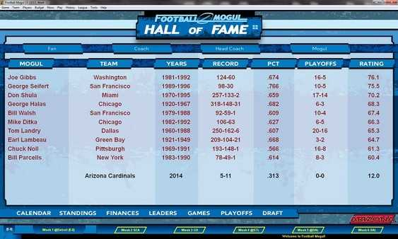 Screenshot Football Mogul 15