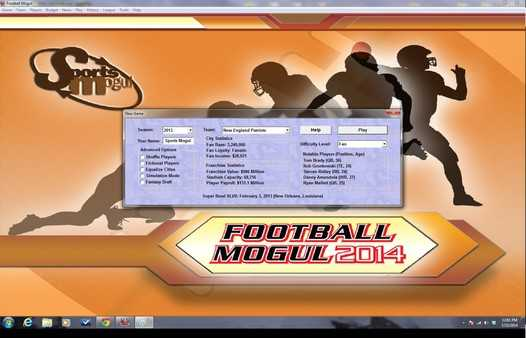 Screenshot Football Mogul 2014