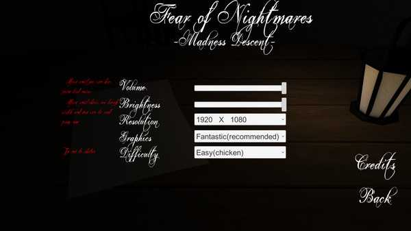 Screenshot Fear Of Nightmares: Madness Descent
