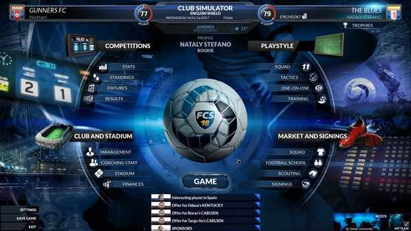 Screenshot Football Club Simulator - FCS 18