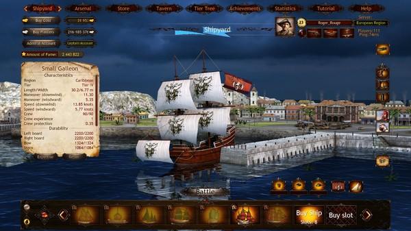 Screenshot Wind of Luck: Arena - Caribbean Captain pack